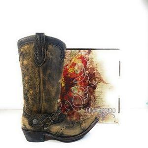 Old Gringo Pisa Women Rustic Brown Buckle Boots 9B
